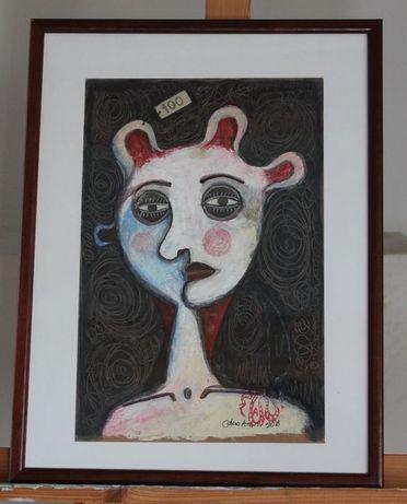 Pintura Acrílica do artista chileno Cesar Araos Loyola