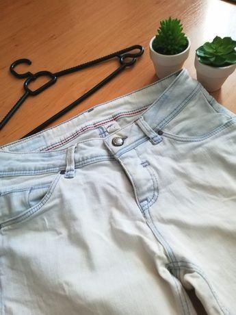 Spodnie biale jeans dżins