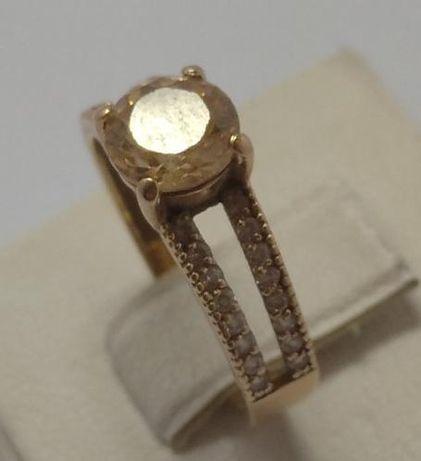 Кольцо из красного золота с цирконием (12572080) (12572080)