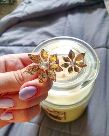 Absolutnie nowe kolczyki liście perły wygodne Zara ze Szwecji