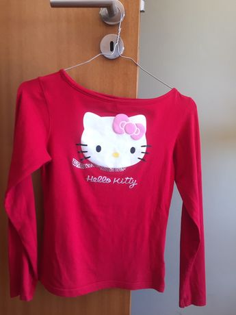 Camisola vermelha hello kitty