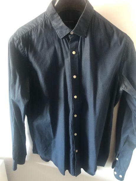 Camisa Azul escuro Slim Fit