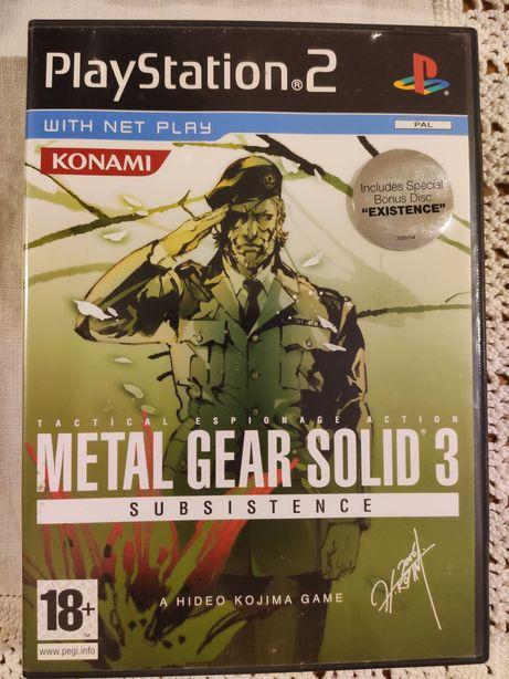 Metal Gear Solid 3 Subsistence Edição Especial - ps2 -retoma jogos ps4