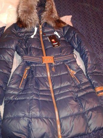 Продам новую классну куртку Bona размер 48(XL) с нат. мехом чернобурк