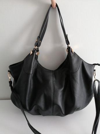 Duża czarna torebka