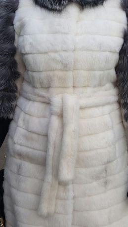 Шуба+шкіряні рукавиці