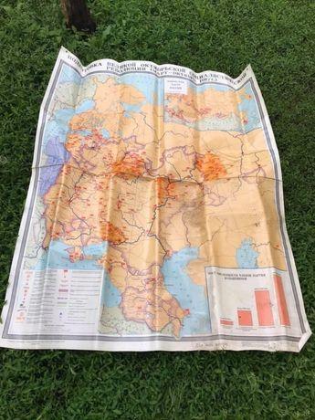 Карта настінна