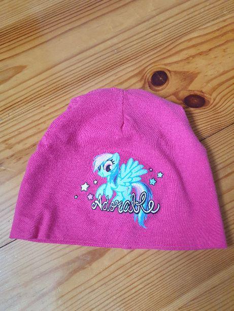 Wiosenno-jesienna czapeczka dla dziewczynki obwód 42 cm