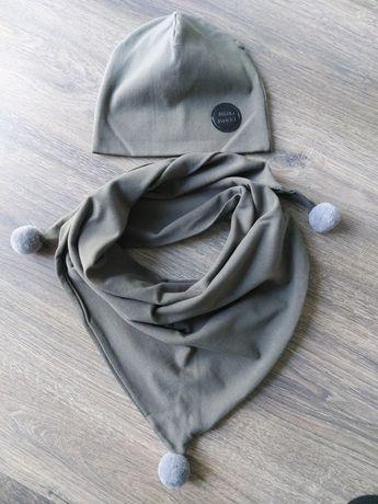 Komplet czapka plus duża chusta