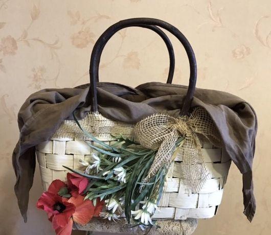 Итальянская соломка , сумка ручной работы