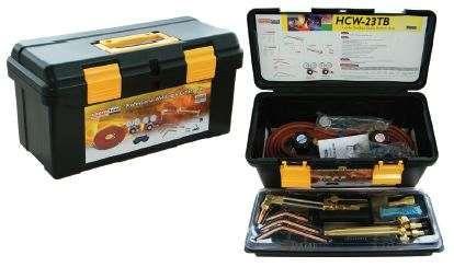 Kit de soldadura, brazagem, aquecimento/tratamento e escovamento,
