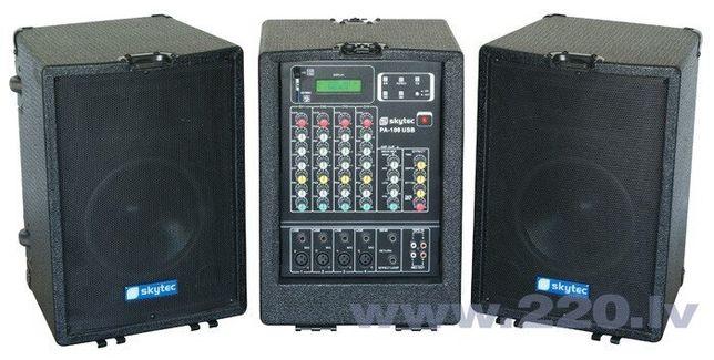 Skytec PA-100USB Акустическая система USB/SD/MP3 2X 600W