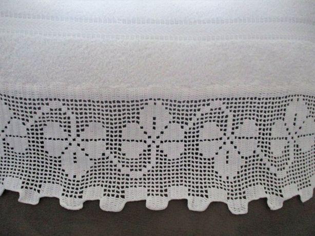 lençol de Banho + Toalha de Rosto Com Renda - Portes Grátis