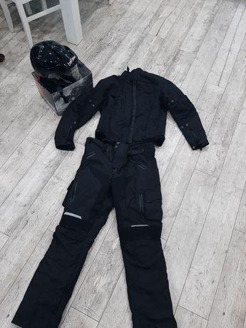 Komplet Kombinezon motocyklowy kurtka spodnie kask