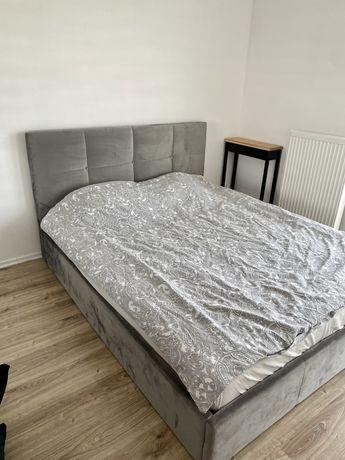 Łóżko tapicerowane szare 160x200 jak nowe