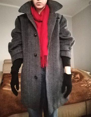 Wełna i alpaca pudełkowy gruby płaszcz