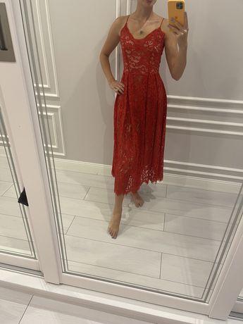 Платье красное h&m