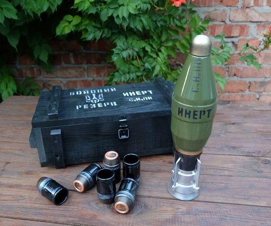 Мина в ящике Бойови резерв Инерт -  подарочный набор для алкоголя
