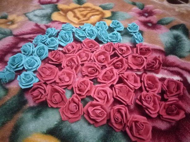 Цветы,розы из фоамирана 4см (50штук)Для рукоделия