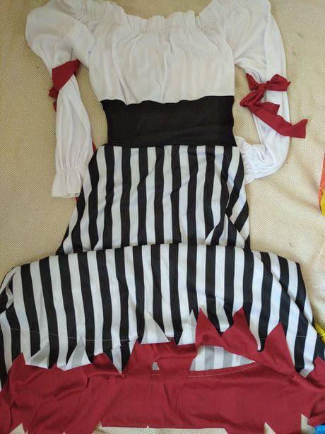 Пиратки размер XS  L юбка платья карнавальные женские Хэллоуин