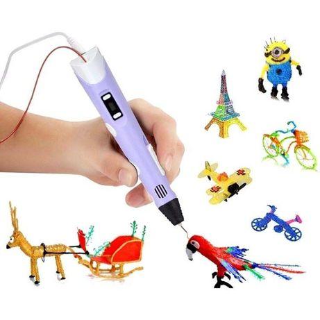 3Д ручка +10 метров пластика . 3D Pen , LED дисплей.