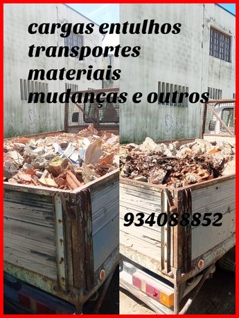 Entulhos, transportes materiais
