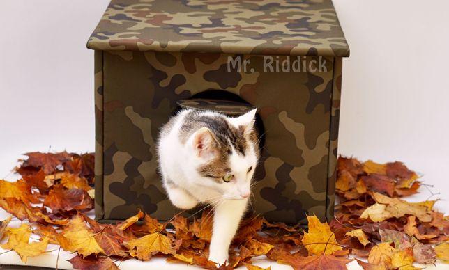 DOMEK budka dla kota i psa na dwór, OCIEPLANA, solidna