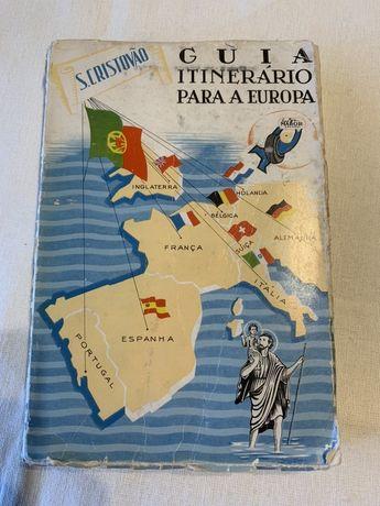 Livro antigo de mapas - Guia Europa incluindo Portugal primeira ediçã