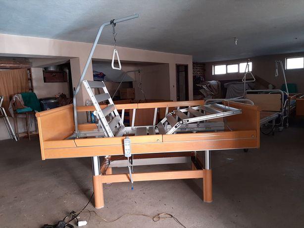 Cama elevatória articulada elétrica hospitalar