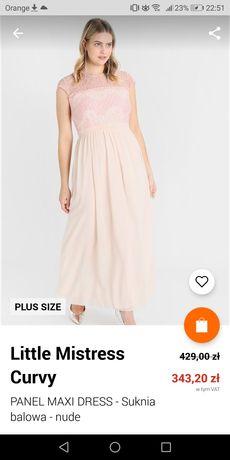 Długa sukienka na wesele.