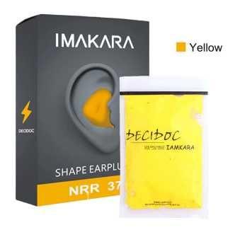 Беруши многоразовые формируемые Imakara желтые шум вода сон бассейн