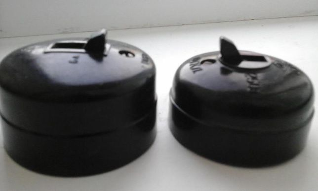 Винтажные лофт ретро раритетные СССР советские выключатели карболит