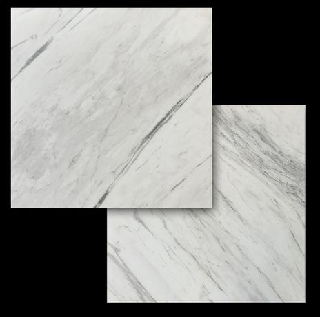 NAJWIĘKSZE płytki 90x90 cm marmurowe Volakas Carrara naturalny kamień