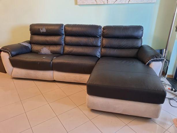 Sofá  chaise long usado