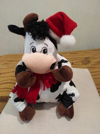 Мягкая игрушка Корова новогодняя