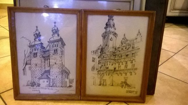 szkice zamku w Oleśnicy-Natusiewicz