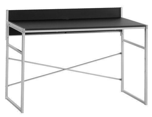 Стіл письмовий GELSTED чорний/сріблястий
