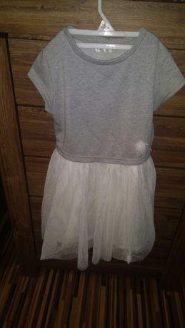 Sukieneczka roz 128 lub 134 gora z bawelny dòł z tiulu cena 13 zl