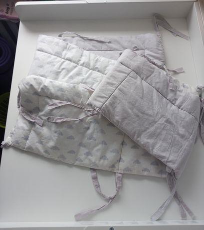 Zestaw 2 x ochraniacz otulacz na łóżeczko do łóżeczka barierkę chmurki