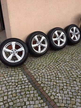 NOWE Oryginalne FELGI AUDI 18 +OPONY Michelin Koła A3 A4 A6 A8 Q3Q5 TT