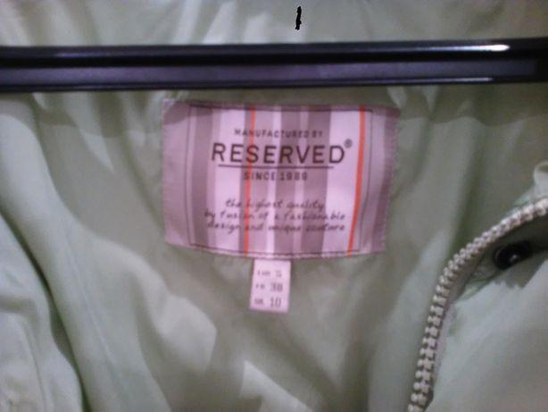 kurtka/ płaszczyk RESERVED S-M (kolor pistacjowy) 164/176cm
