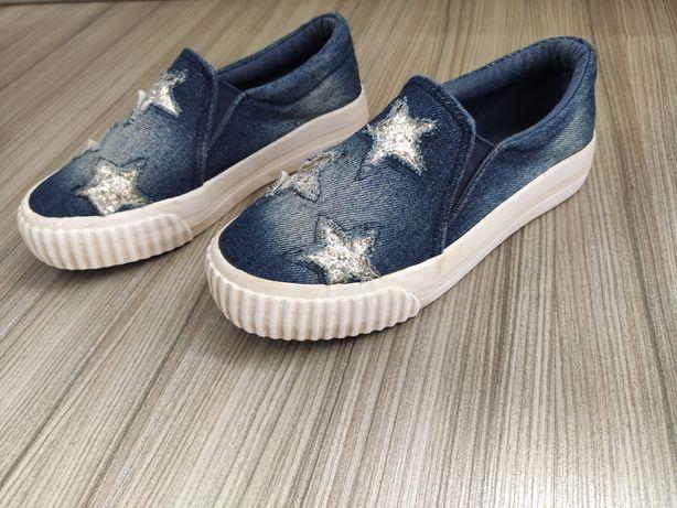 Trampki buty 32 dziewczęce jeans