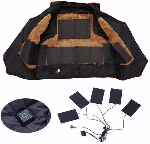 Мобильный электро термо подогрев для одежды, работает от Power Bank