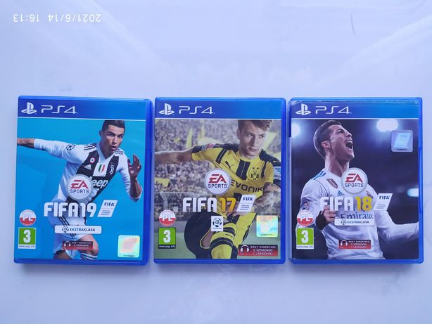 FIFA 17, FIFA 18, FIFA 19-zestaw