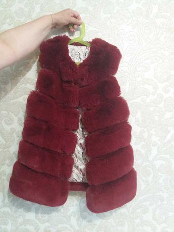 Меховая жилетка для девочки