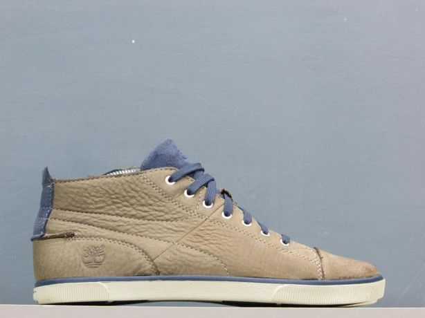 Timberland Slim Cup Cupsole Mid Leather Trainers Zip Lace 40 25см