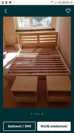 Zestaw szafa łóżko materac szafki nocne