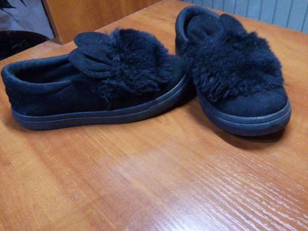 Теплые детские стильные и теплые туфельки