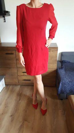 Sukienka czerwona elegancka rozmiar S