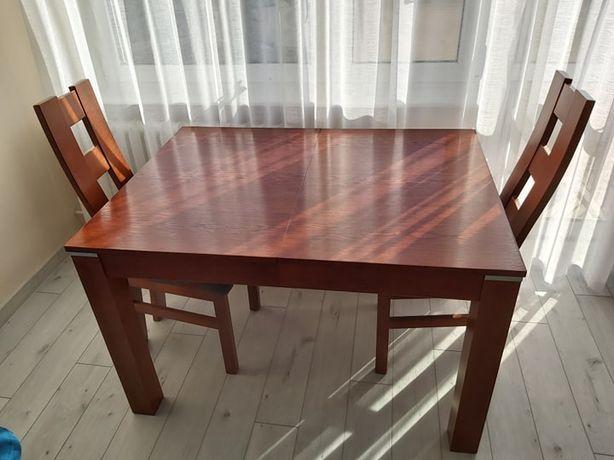 Stół do salonu rozkładany (120 x 90) + 6 krzeseł